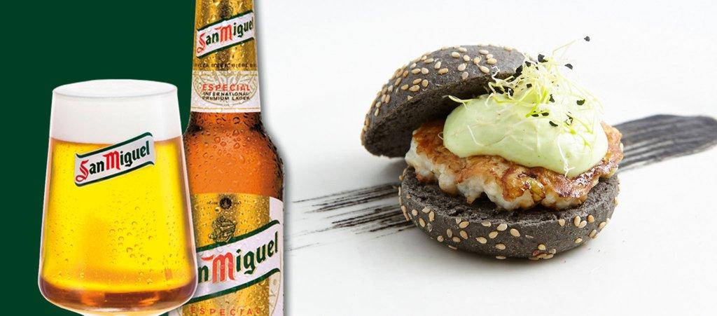 Hamburguesa de calamar con ali oli verde rimbomb n ii for De tapa en tapa las palmas